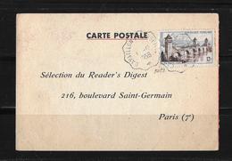 1956 Frankreich → Carte Postale Sélections Du Reader's Digest, St.Germain Paris - France