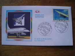 2002 Premier Jour FDC, Le Siècle Au Fil Du Timbre Transports, Concorde - FDC