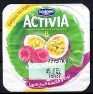 "Opercule Cover Yaourt Yogurt "" Danone "" ACTIVIA Sensations Yoghurt Yoghourt Yahourt Yogourt Limited Edition - Opercules De Lait"