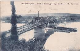 """CPA - JASSANS (Ain) - Pont De Frans, Passage Du Bateau """"le Parisien"""" - Autres Communes"""