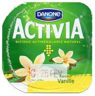 "Opercule Cover Yaourt Yogurt "" Danone "" ACTIVIA Vanille Yoghurt Yoghourt Yahourt Yogourt New Design - Opercules De Lait"