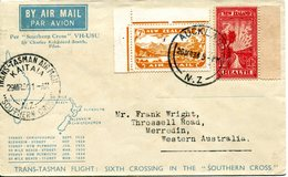 New Zealand 1934 First Flight Airmail Cover With 1933 Pathway To Health - Poste Aérienne