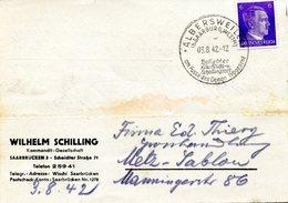 Cachet De Propagande Touristique D'ALBERSWEILER (ABRESCHWILLER) Sur Carte De Correspondance Datée Du 03/08/1942 - Alsace-Lorraine