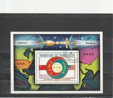 Haute Volta Oblitéré  1975  Bloc N° 5AG    Coopération Spaciale USA - URSS - Haute-Volta (1958-1984)