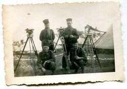 Photo De Soldat Francais ( Des Tirailleurs ) Faisant De La Topographie - War, Military