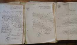 Lot De 38 ACTES NOTARIÉS ET ACTES D'ÉTAT-CIVIL ISÈRE 1816-1896- GRAND LEMPS- SAINT-GEOIRS- LE SAPPEY- GRENOBLE- YZEAUX.. - Other