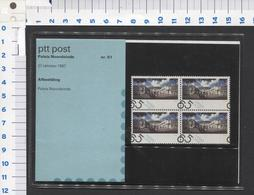 PTT Post , Paleis Noordeinde-- 27-10-1987 Mapje 51 - NOT Used - See The 2 Scans For Condition( Originaal) - Periode 1980-... (Beatrix)