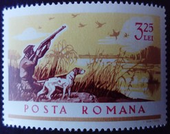 Roumanie Romania Romana 1965 Animal Chien Dog Oiseau Bird Chasse Hunting Yvert 2192 ** MNH - Ungebraucht