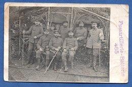 Carte Photo  -  Fussartillerie Baterie 465  --  Abimée - War 1914-18