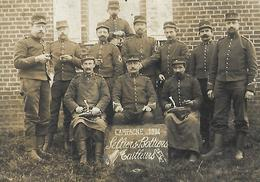 Carte Photo  Militaire Guerre 1914 Groupe Selliers Bottiers Tailleurs 25°Cpie - Guerres - Autres