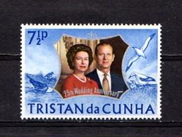 TRISTAN  DA  CUNHA    1972    Royal  Silver  Wedding   7 1/2p  Dull Ultramarine    MNH - Tristan Da Cunha