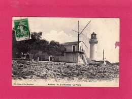 06 Alpes-Maritimes, Antibes, N. D. D'Antibes, Le Phare, Animée, Sémaphore, 1913, (Berger & Cie) - Autres