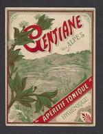 Etiquette  De Gentiane Tonique Hygiènique - Etiquettes