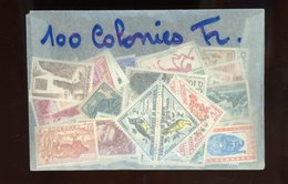 LOT DE 100 TIMBRES DIFF. DES COLONIES DE FRANCE AVANT ET APRÈS INDÉPENDANCE   NEUF SANS CHARNIÈRE - France (ex-colonies & Protectorats)