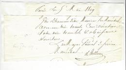 Général Claude-Victor Perrin Dit Victor Duc De Bellune (1764-1841) AUTOGRAPHE ORIGINAL AUTOGRAPH 1819 /FREE SHIP. R - Autografi
