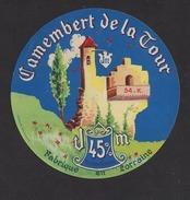 Etiquette De Fromage Camembert  -  De La Tour (lettres Blanches)  -   Fromagerie Marisien à  Ménil La Tour   (54 K) - Cheese