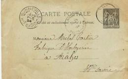 8386  -  BONNEVILLE / MONTSAXONNEX   :  PRECURSEUR 1894 ...à Mr  CARTIER Horloger à Araches  Circulée En 1894 - Bonneville
