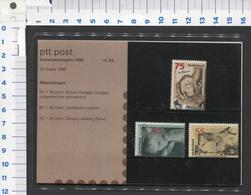 PTT Post , Zomerzegels 1399-1401- 22-3-1988 -mapje 54 - NOT Used - See The 2 Scans For Condition( Originaal) - Periode 1980-... (Beatrix)