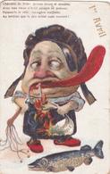 """Pâques, 1er Avril, Poisson, Caricature, Humour """"Le Torchon Brûle"""" - Illustration Non Signée - Pascua"""