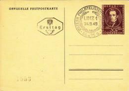 AUTRICHE - 1949 - Entier Postal Illustré - FDC - Stamped Stationery