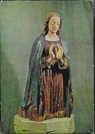 LAURANA - MADONNA ADORANTE - SCULTURA IN LEGNO . ABBAZIA CHIARAVALLE - VIAGGIATA 1983 - Sculture