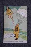 """Militaria - Parachutisme : """" J'ai Drôlement Bien Fait De Sauter Avant Elle ! """" - Humoristiques"""