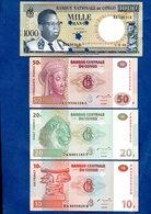 Congo  -  Lot De 4 Billets - Congo
