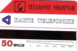 Albanie Albania Shqiptar Telekomi Telecarte Phonecard Karte Telefonike Prepayee Prepaid Tirane Icem  Ut BE - Albanie
