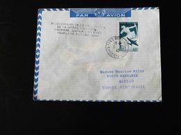PREMIERE LIAISON  AERIENNE FRANCAISE DAKAR - BISSAO  -  1947  - - Air Post