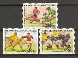 Togo 1987 - Coupe Du Monde De Rugby - Série Complète MNH - 1217, PA 632/3 - Togo (1960-...)