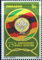 PIA - ZIMBABWE - 1982 : 75° Anniversario Dello Scoutismo - (Yv 39-42) - Zimbabwe (1980-...)