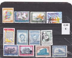 Guatemala  -  Lote  12  Sellos Diferentes     - 2/1055 - Guatemala