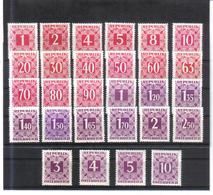 UPU13 ÖSTERREICH 1949  PORTO  Michl  232/59 ** Postfrisch ZÄHNUNG SIEHE ABBILDUNG - Strafport