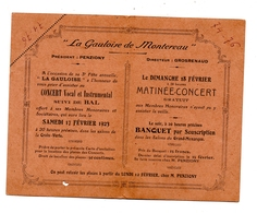 La Gauloise De Montereau Carte D'Invitation 1923 - Cartes
