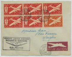 Nouvelle-Calédonie . Première Liaison Aérienne Nouméa-Saïgon Via Sydney Par Air France 8 Décembre 1948 . - Luftpost