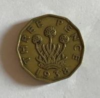 GRAN BRETAGNA  - 1938  Moneta 3 PENCE - Giorgio VI - Altri