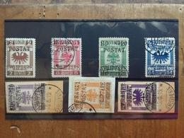 ALBANIA 1919 - Marche Fiscali Sovrastampate Nn. 53/59 - Timbrati (1 Valore Denti Corti Non Calcolato) + Spese Postali - Albania