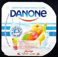 """Opercule Cover Yaourt Yogurt """" Danone """" Cocktail Au Lait Algérien With Algerian Milk Yoghourt Yahourt Yogourt - Opercules De Lait"""