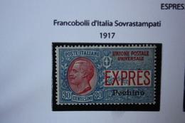 UFFICI ALL'ESTERO - CINA PECHINO  - ESPRESSO 1  MNH**  - 1917 - Bureaux Etrangers