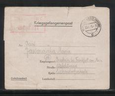 KRIEGSGEFANGENENPOST NAZI GERMANY THIRD REICH WW2 PRISONER OF WAR POW CAMP OFLAG VIIC WOLDENBERG DOBIEGNIEW TO GRIESHEIM - Germany