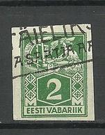 ESTLAND Estonia 1922 Michel 34 B O - Estonia