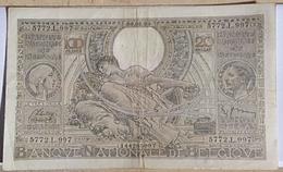 Belgium 100 Francs 20 Belgas 1939 - 100 Francs & 100 Francs-20 Belgas