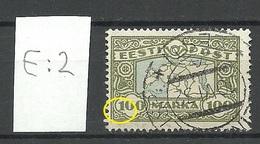 Estland Estonia 1923 Michel 40 Variety ERROR E: 2 O - Estonia
