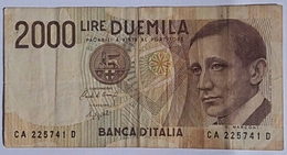 Italia 2000 Lira - [ 2] 1946-… : Republiek