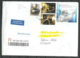 POLAND Polen 2019 R-Brief Nach Estland Pope Papst Olympic Games Rio 2016 Etc - 1944-.... Republik