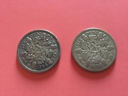 GRAN BRETAGNA  - 1930 E 1934 - 2  Monete Da 6 PENCE - Giorgio V - 1971-… : Monete Decimali