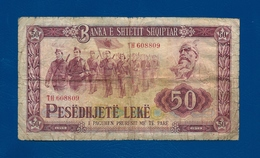 Banconota Da  50   LEKE  -  ALBANIA  -  Anno 1976. - Albania