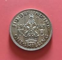 GRAN BRETAGNA  - 1943  Moneta 1 SHILLING  - Giorgio VI - Argento - 1971-… : Monete Decimali