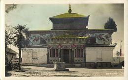 India, DARJEELING, Ghum Ghoom Yiga Choeling Tibetan Monastery (1930s) Das RPPC - Tibet