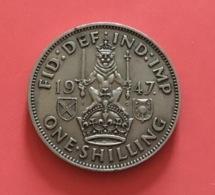 GRAN BRETAGNA  - 1947  Moneta 1 SHILLING  - Giorgio VI - 1971-… : Monete Decimali